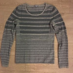James Perse Wool & Cashmere Striped Grey Sweater